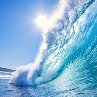 Blue Wave - Obrázkek zdarma pro 208x208
