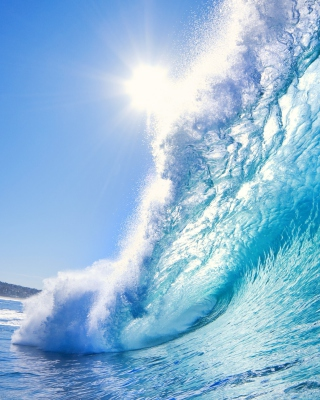 Blue Wave - Obrázkek zdarma pro Nokia Asha 502