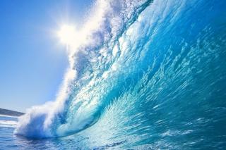Blue Wave - Obrázkek zdarma pro Nokia X5-01