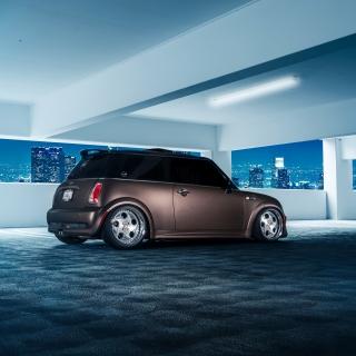 Mini Cooper Matte Black - Obrázkek zdarma pro 1024x1024