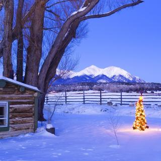 December in Cottage - Obrázkek zdarma pro iPad