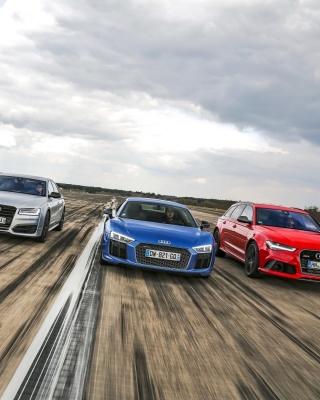 Audi RS 7, RS 6, R8 - Obrázkek zdarma pro iPhone 4