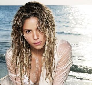 Shakira On Beach - Obrázkek zdarma pro iPad 2