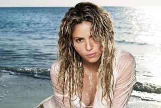 Shakira On Beach - Obrázkek zdarma pro 1024x600