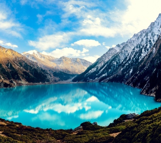 Big Mountain Lake - Obrázkek zdarma pro iPad