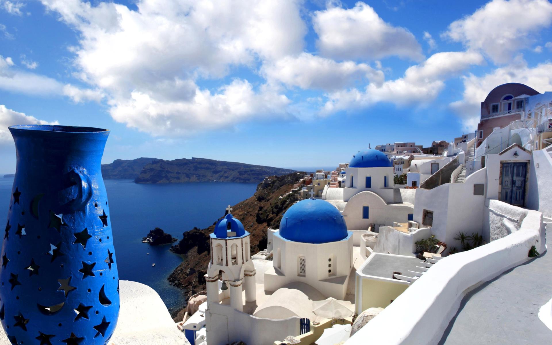 wallpaper santorini greece island - photo #20