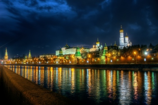 Moscow Kremlin and Embankment Background for Android, iPhone and iPad
