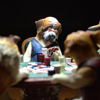 Dogs Playing Poker - Obrázkek zdarma pro 128x128