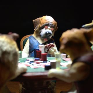 Dogs Playing Poker - Obrázkek zdarma pro iPad 3