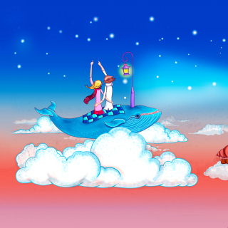 Love on Clouds - Obrázkek zdarma pro iPad