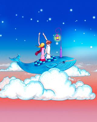 Love on Clouds - Obrázkek zdarma pro Nokia Asha 309