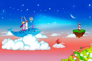 Free Love on Clouds Picture for Nokia Asha 200