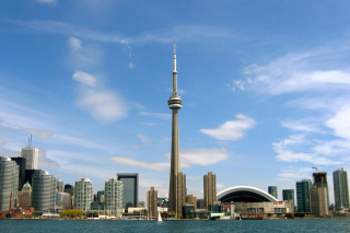 CN Tower in Toronto, Ontario, Canada Wallpaper for Nokia Asha 200