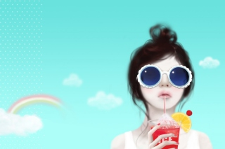 Cool Girl Drawing Background for Android, iPhone and iPad