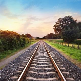 Scenic Railroad Track - Obrázkek zdarma pro 1024x1024