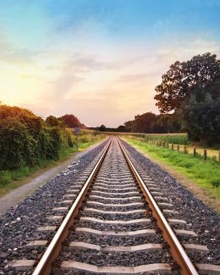 Scenic Railroad Track - Obrázkek zdarma pro 240x400