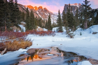 Colorado Winter Mountains Wallpaper for Android, iPhone and iPad