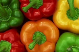 Colored Peppers Background for Android, iPhone and iPad