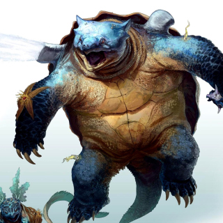 Fantastic monster turtle - Obrázkek zdarma pro 320x320