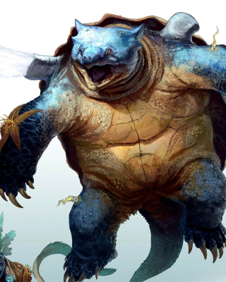 Fantastic monster turtle - Obrázkek zdarma pro Nokia Asha 503