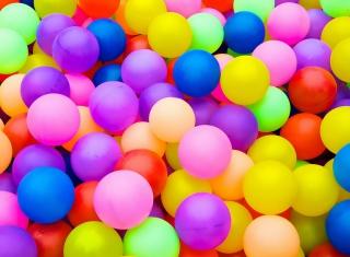 Rainbow Hot Air Balloons - Obrázkek zdarma pro Fullscreen Desktop 1024x768