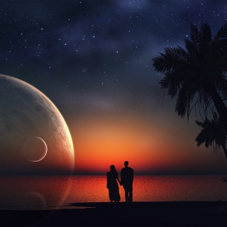 Romantic Night on Sea - Obrázkek zdarma pro iPad 2