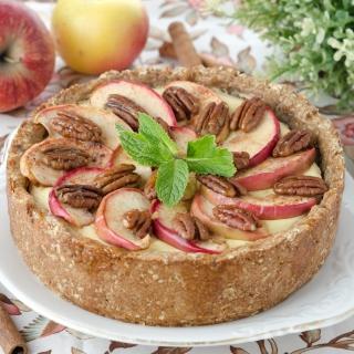 Apple Pie with Walnut - Obrázkek zdarma pro 208x208