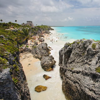 Cancun Beach Mexico - Obrázkek zdarma pro 208x208