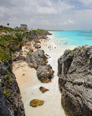 Cancun Beach Mexico - Obrázkek zdarma pro 352x416