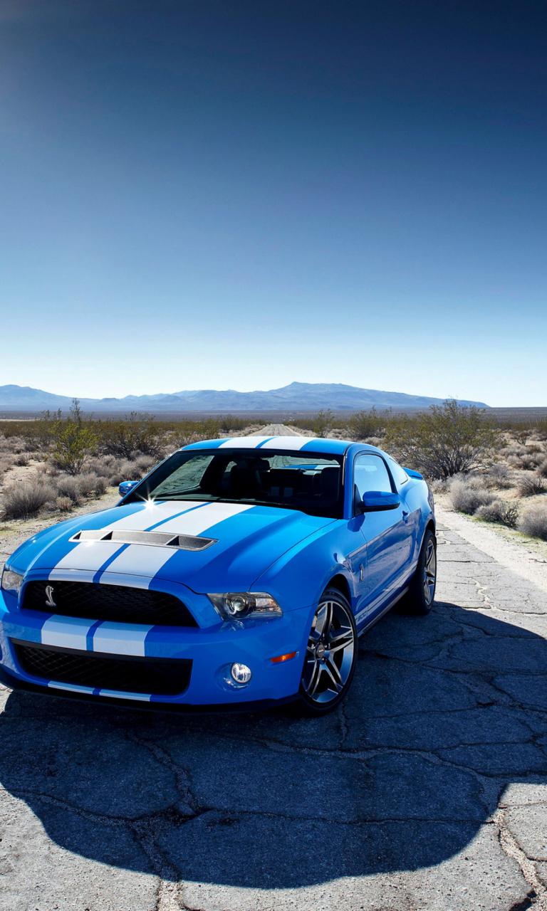 Blue Ford Mustang Gt Fondos De Pantalla Gratis Para 768x1280