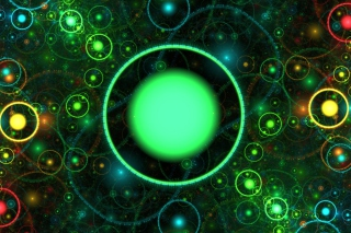 Free 3D Green Circles Picture for Android, iPhone and iPad