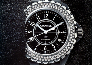 Chanel Diamond Watch Wallpaper for Android, iPhone and iPad