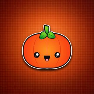 Cute Orange Pumpkin - Obrázkek zdarma pro iPad 2