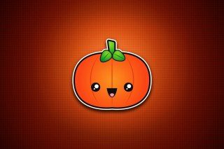 Cute Orange Pumpkin Picture for Android, iPhone and iPad