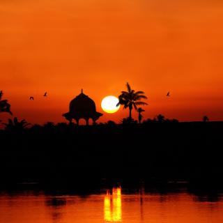 Egypt Nile Sunset - Obrázkek zdarma pro iPad
