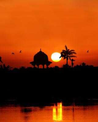 Egypt Nile Sunset - Obrázkek zdarma pro 480x640