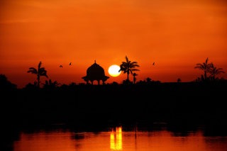 Egypt Nile Sunset - Obrázkek zdarma pro 1024x600