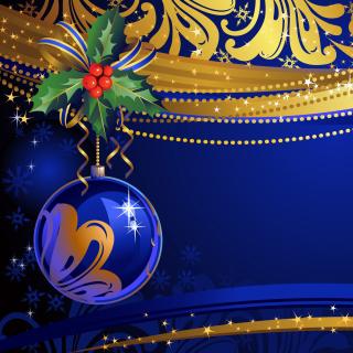 Christmas tree toy Blue Ball - Obrázkek zdarma pro 2048x2048