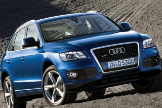Audi Q5 Blue Background for Android, iPhone and iPad