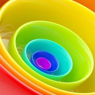 Rainbow Rings - Obrázkek zdarma pro 1024x1024