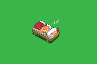 Sleeping Sushi Wallpaper for Android, iPhone and iPad