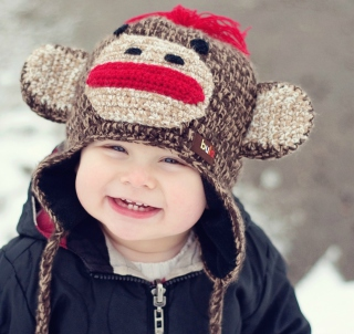 Cute Smiley Baby Boy - Obrázkek zdarma pro 320x320