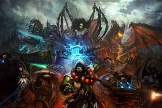 World of Warcraft Mists of Pandaria - Obrázkek zdarma pro Desktop Netbook 1366x768 HD