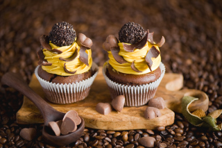 Cream And Chocolate Cupcakes - Obrázkek zdarma pro Widescreen Desktop PC 1280x800