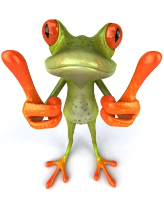 3D Frog Thumbs Up - Obrázkek zdarma pro Nokia X3