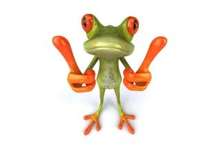 3D Frog Thumbs Up - Obrázkek zdarma pro 1600x900