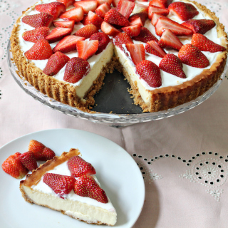 Strawberry Cheesecake - Obrázkek zdarma pro iPad