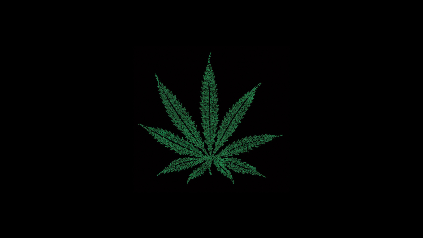 marijuana leaf wallpaper for 1366x768