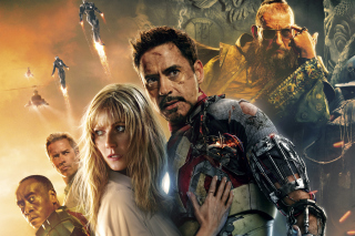 Iron Man 3 Robert Downey Jr Background for Android, iPhone and iPad