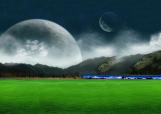 Moon Landscape - Fondos de pantalla gratis para Samsung S5367 Galaxy Y TV